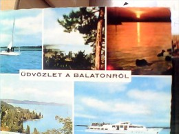 UDVOZLET A BALATONROL - SALUTI DAL LAGO BALATON: BY ROMANIA V1974  EV700 - Romania