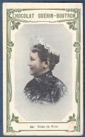 Chromo Chocolat Guerin-Boutron 2e Livre D´or Célébrités Contemporaines - 644 Reine De Saxe Douairière - Guerin Boutron