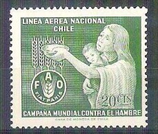 MNH Stamp FAO Freedom From Hunger 1963 CHILI CHILE  Campagne Mondiale Contre La Faim - Organisations