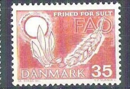 MNH Stamp FAO Freedom From Hunger 1963 Danmark Denmark  Campagne Mondiale Contre La Faim - Organisations