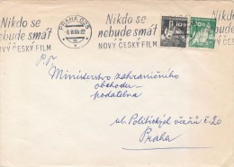 J3064 - Czechoslovakia (1966) Praha 025 (56): Promotional Postmark Machine (10h - Castle Bezdez, 30h - Castle Pernstejn) - Castles