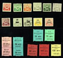 Chemin De Fer  Lollands  18 Valeurs Différentess Dont 2 Avec Reçu  **, * Et Oblitéré - Local Post Stamps