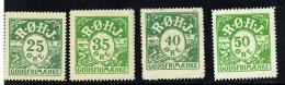 Chemin De Fer  Ringkøbing - Ørnhøj - Holstebro 4 Valeurs Différentes **, * Et Oblitéré - Local Post Stamps