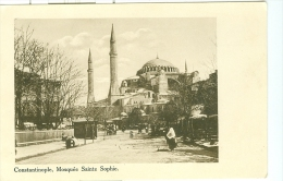 CONSTANTINOPLE ISTANBUL  MOSQUEE  SAINT SOPHIE - Turchia