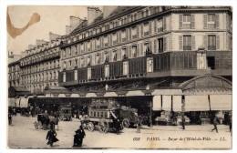 CPA Animée 75 PARIS 4e Bazar De L´ Hôtel De Ville BHV  Attelages Omnibus Edition L.L. - Transport Urbain En Surface