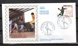 "FRANCE 2001 : Enveloppe 1er Jour En SOIE "" HANDBALL "" N° YT 3367. Parfait état. FDC - Handball"