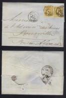 TYPE SAGE 25 C. BISTRE1882 DOUBLE PORT SUR LAC DE LYON POUR BOUXWILLER - ALSACE OCCUPEE (ref 6421) - 1876-1898 Sage (Type II)