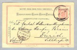 Österreich Levante Salonique 1900-11-27 GS Nach Zürich - Levant Autrichien
