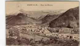 CPA 04 DIGNE DANS LES OLIVIERS 1924 - Digne