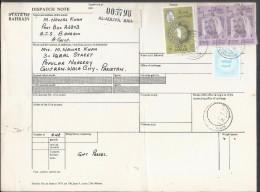 Bahrain Registered Parcel 1976 Sheik Isa 2d, 2d, Map Of Bahrain 50f, 1974 WAR TAX STAMP On Parcel Card, 50% OFF - Bahrain (1965-...)