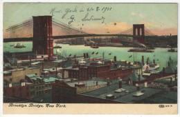 Brooklyn Bridge, New York - 1911 - Ponts & Tunnels