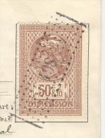 """Timbre Fiscal """"Dimension"""" 50 C Et 2/10 ème Sur Bail Juin 1914 - Vieux Papiers"""