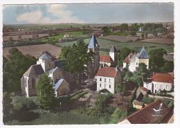 En Avion Au Dessus De Perrecy Les Forges - L'Eglise - Circulé 1972 - France