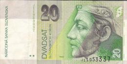 1.7.1999  -  20 Slowakische Kronen  -  Siehe Scan  (bn Slowakei 01) - Slowakei
