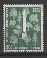 BUND Mi-Nr. 220 Adalbert Stifter Gestempelt (4) - BRD