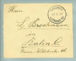 Österreich Levante Salonicki 1897-07-27 Brief Nach Berlin - Levant Autrichien