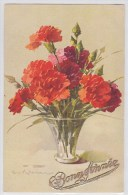 Catharina Klein - Bonne Année - Fleurs Rouges Dans Vase Transparent - STZF N°1102 - Klein, Catharina