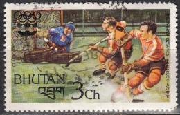 Bhutan, 1976 - 3ch Ice Hockey - Nr.214 Usato° - Bhutan