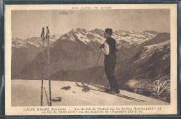 - CPA 38 - Alpe D´Huez, Vue Du Col De Poutran Sur Les Roches Rissiou - Autres Communes