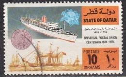 Qatar, 1974 - 10d Old And New Ship - Nr.386 Usato° - Qatar