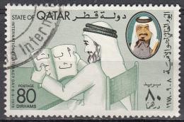 Qatar, 1978 - 80d Man Learning To Read - Nr.535 Usato° - Qatar