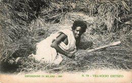 [DC4634] CARTOLINA UFFICIALE - ESPOSIZIONE DI MILANO - VILLAGGIO ERITREO - Non Viaggiata - Old Postcard - Esposizioni