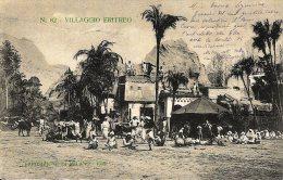 [DC4636] CARTOLINA UFFICIALE - ESPOSIZIONE DI MILANO - VILLAGGIO ERITREO - Viaggiata 1906 - Old Postcard - Exposiciones