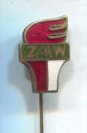 ZMW -  Communist party YOUTH communism Poland, vintage pin badge, enamel