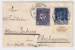 DR, 1922, Nr. 233 Auf Brief (Mi. 50.-), Portogerecht ,  #2011 - Briefe U. Dokumente