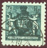 Liechtenstein 1924-03-07 Vaduz Zu#49B Mi#49A Gezähnt 9.5 Gestempelt - Liechtenstein