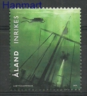 Aland 2009 Mi 311 MNH - diving, wrecks