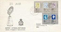 Veldpost - 25 Jaar Depot Straalmotoren (1976) - Met Adres / Open Klep - Period 1949-1980 (Juliana)