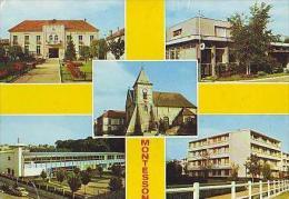 """Montesson  H31           5 Vues La Mairie. La Poste. L'église. L'école Victor Hugo. Groupe """"Les Baux"""" - Montesson"""