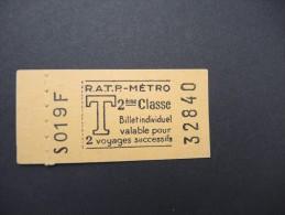 FRANCE-Tickets de m�tro de Paris-A �tudier P7044
