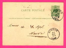 Entier Postal - Oblitération De Gand à Ninove - 22 Mai 1883 - 5 Centimes - Postkaarten [1871-09]