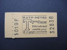 FRANCE-Tickets de m�tro de Paris-A �tudier P7049