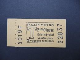 FRANCE-Tickets de m�tro de Paris-A �tudier P7050
