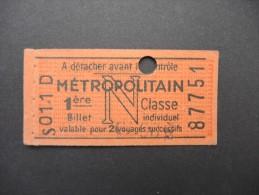 FRANCE-Tickets de m�tro de Paris-A �tudier P7053