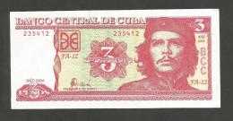 CUBA - BANCO NATIONAL De CUBA - 3 PESOS (2004) - Ernesto Guevara - Cuba