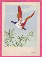 CPA - THEME ANIMAUX NATURE - ARS NOVA DIPINTA A MANO   IN PALUDE - CARTE PEINTE MAIN - CANARD ENTE ANATRA - Künstlerkarten