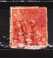 INDIAN STATE JATH REVENUE FISCAL STAMPS #D4 - India