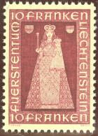 Liechtenstein 1941 Madonna 10Fr. Zu#150 Mi#197 ** Postfrisch - Liechtenstein