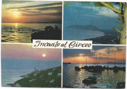 M3099 San Felice Circeo (Latina) - Panorama - Vedute - Multipla - Tramonto Sunset Coucher / Viaggiata 1968 - Italia