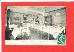 76 EU Cpa Salle A Manger De L' Hotel De La Gare - Eu