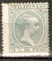 FILIPINAS 1896 EDIFIL 125* - Philippinen
