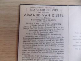 Doodsprentje Armand Van Gijsel Doel 23/11/1918 Sint Niklaas 24/9/1944 ( Z.v. Edmond En Rosa Van Uytenhouwen ) - Religion & Esotericism