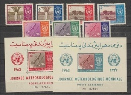 Afghanistan 1963 WHO/Space 7v + 2 M/s ** Mnh (22595) - Afghanistan