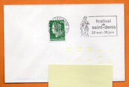 93 SAINT DENIS  FESTIVAL  30 / 3 / 1973  Lettre Entière N° H 202 - Mechanical Postmarks (Advertisement)