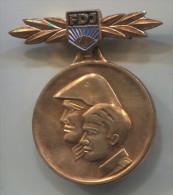 EAST GERMANY DDR - FDJ, Communism, Medal, Army Military - Militaria