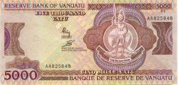Vanuatu Billet 5000 Vatu (40 Euro) Monnaie Premier Alphabet Et Donc Première Signature, 1988 NEUF UNC - Vanuatu